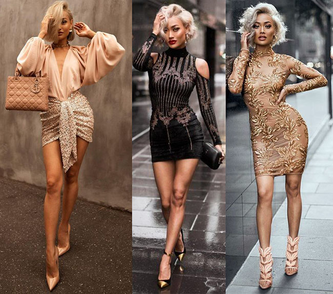 стильные короткие платья 2020-2021 фото моделей