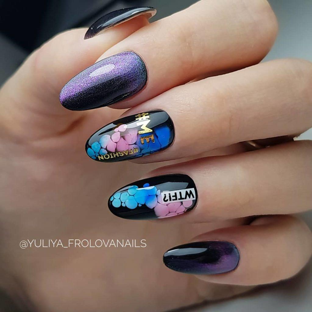 роскошное оформление ногтей