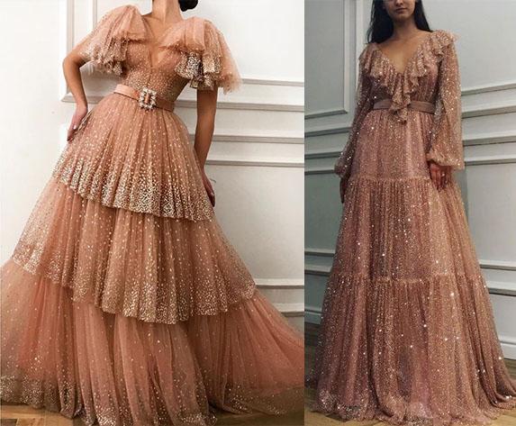 стильные платья с воланами сборками2020-2021 фото моделей