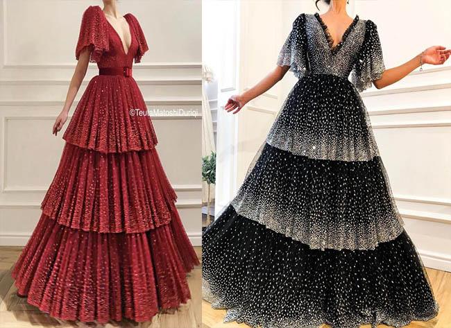 длинные модные вечерние платья 2020-2021 фото моделей
