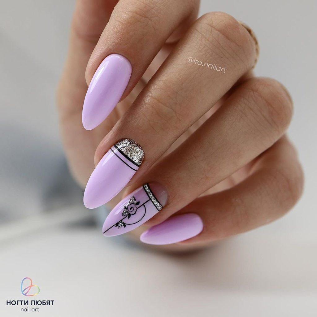 роскошный дизайн ногтей 2020-2021 в пудровых тонах