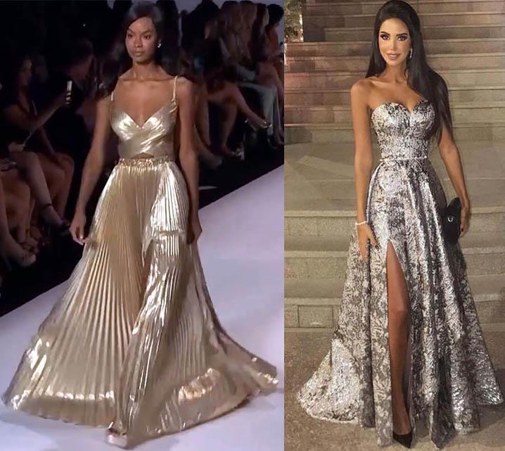 платья в годы быка 2021 фото вечерних платьев