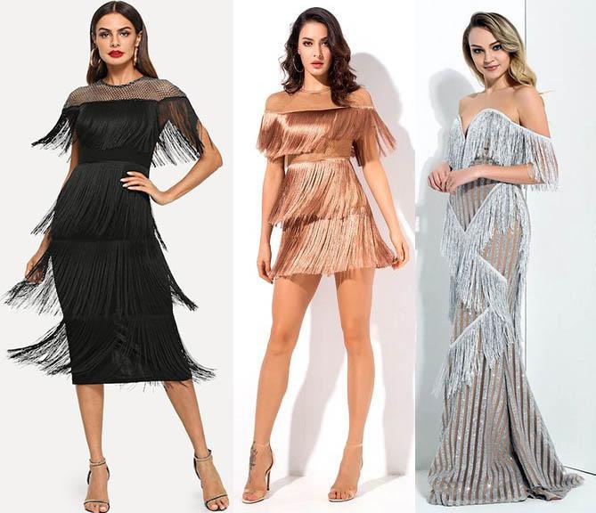 бахрома стильные платья 2021