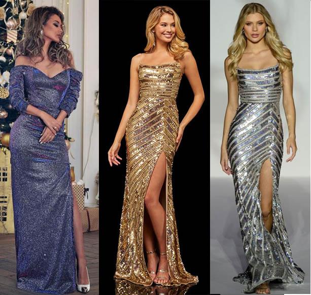 тенденции платья 2021 фото вечерние новогодние наряды