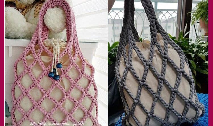 плетенные сумки авоськи на новый лад 2020-2021 идеи из пряжи