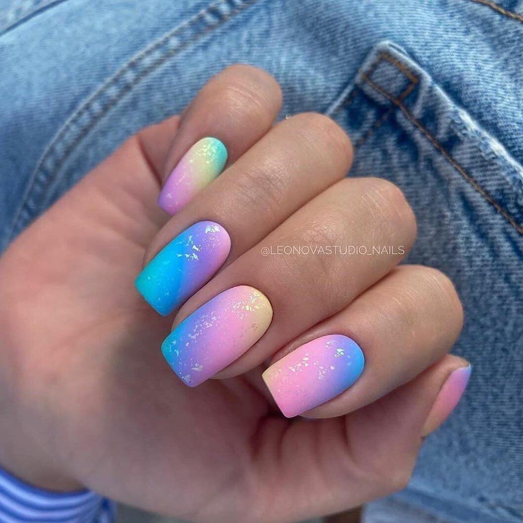 градиент дизайн ногтей идеи