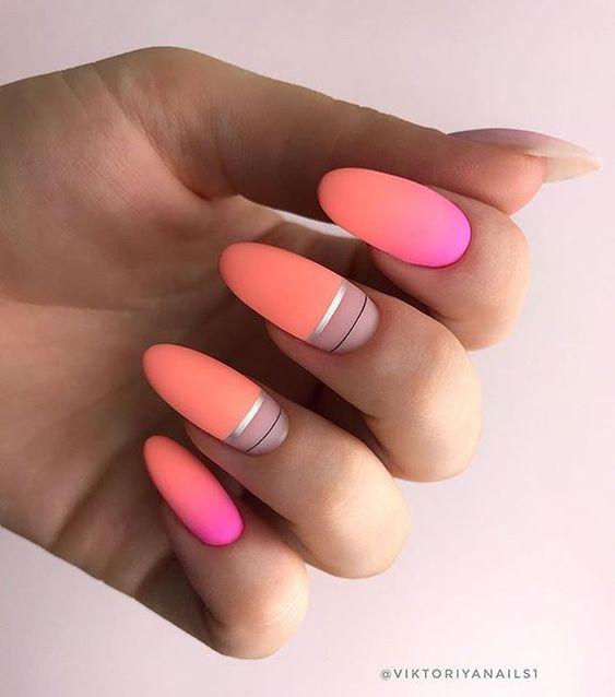 коралловый цвет ногтей красивый дизайн