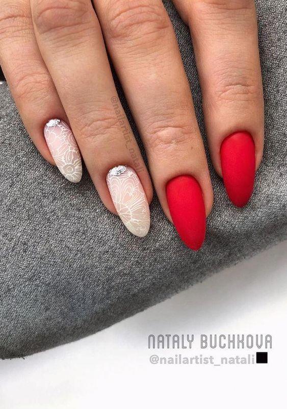красный стилеты ногти