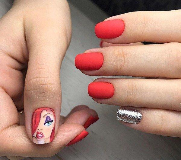 матовый красный цвет ногтей гель-лак 2021