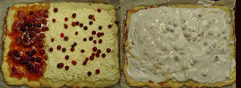пирог из песочного теста и безе