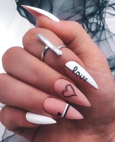 как оформить ногти на день влюбленных