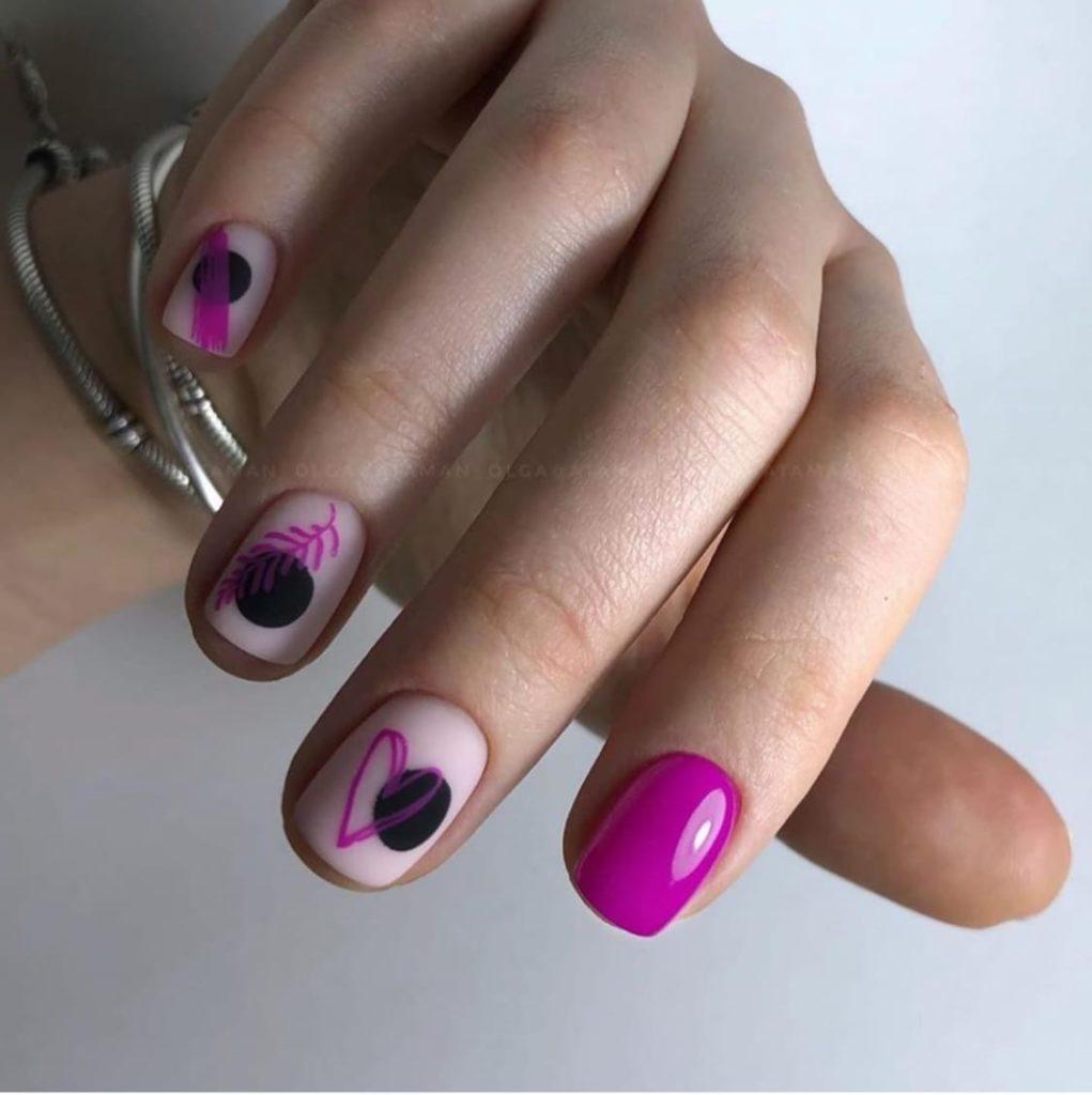 как накрасить ногти святого валентина