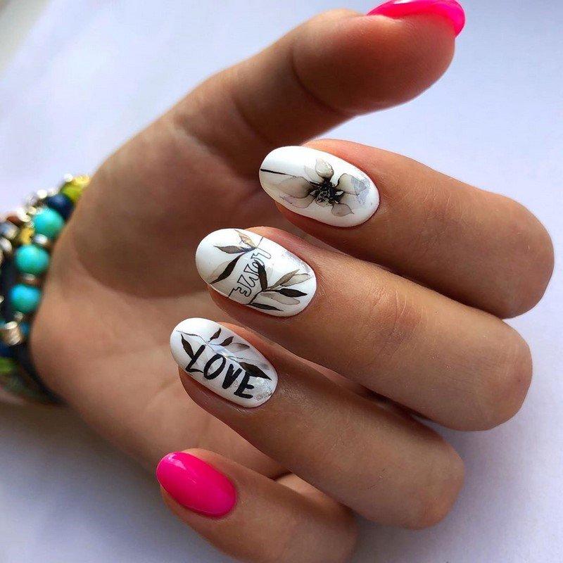 надписи на ногтях идеи оофрмления ногтей