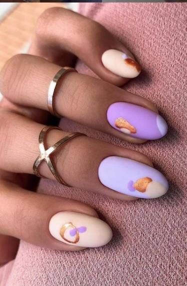 сирень белый светлый 2022 ногти