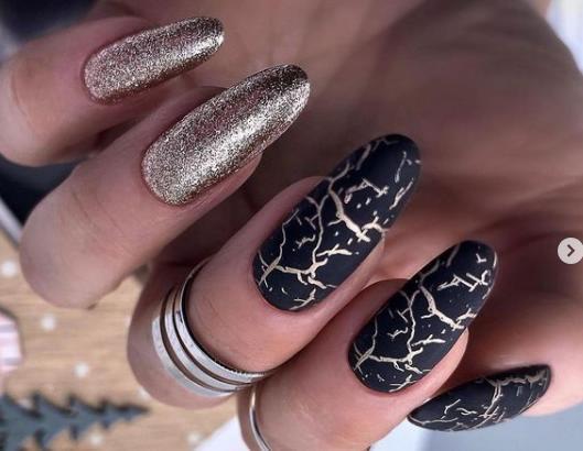 кракелюр мрамор на ногтях 2022