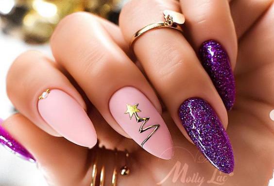 красивые ногти 2022 фиолетовые идеи новинки