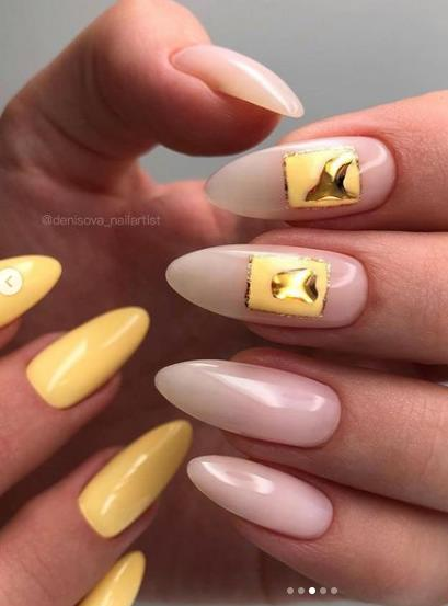 золотой дизайн ногтей декор фольга 2022