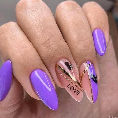 лав-стори на ногтях 2021-2022 модный дизайн нейл-арта