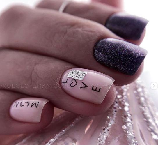 надписи на ногтях лав стори