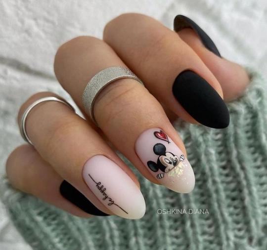 минни на ногтях рисунки дисней покрытие гель-лаком