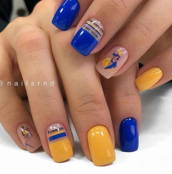 печать узоры на ногтях маникюр модные тенденции
