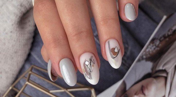стильные ногти нюд 2022