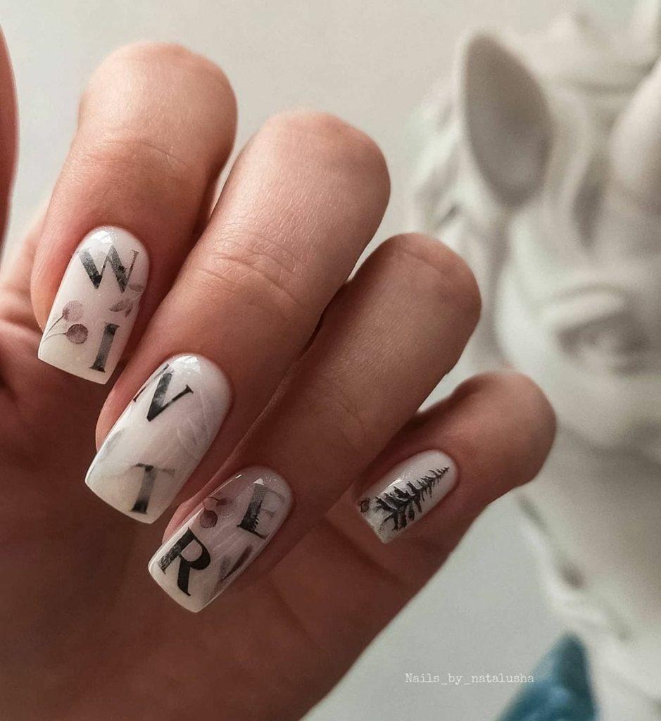 печать на ногтях форма квадратная стемпинг
