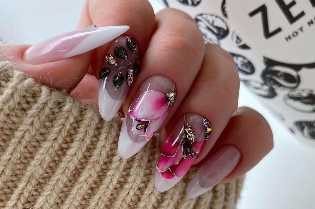 акварель на ногтях стильные идеи