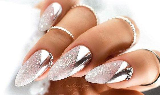 блестящий дизайн ногтей фольга 2022