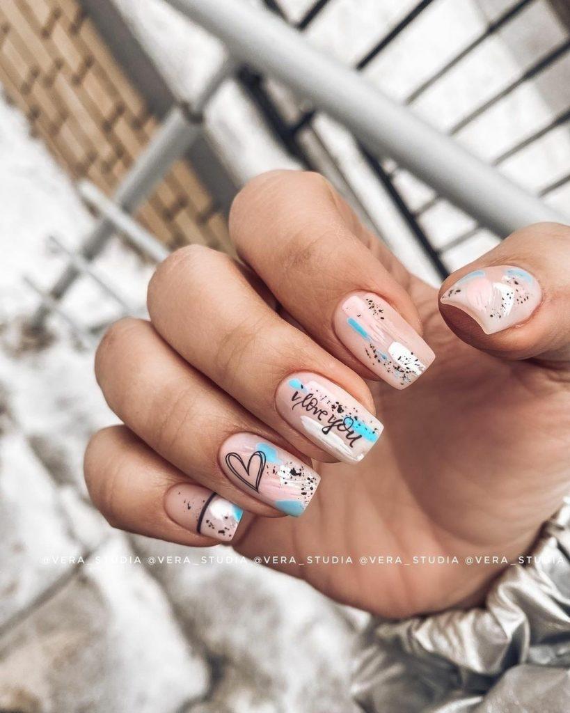 узоры разводы на ногтях идеальный вариант ногтей на лето